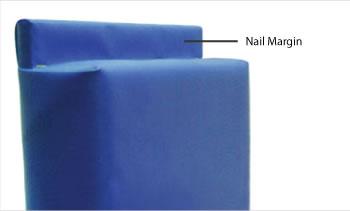 wall padding nail margin