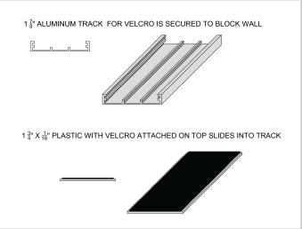 wall padding velcro