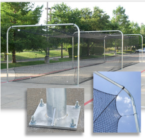 Bolt Down Outdoor Batting Cage